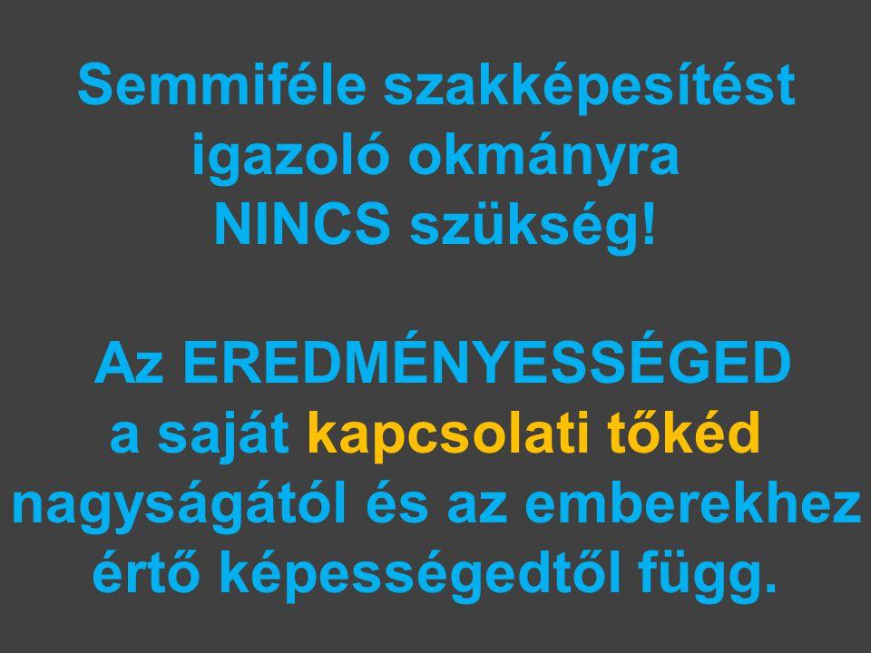 Semmiféle szakképesítést igazoló okmányra NINCS szükség.
