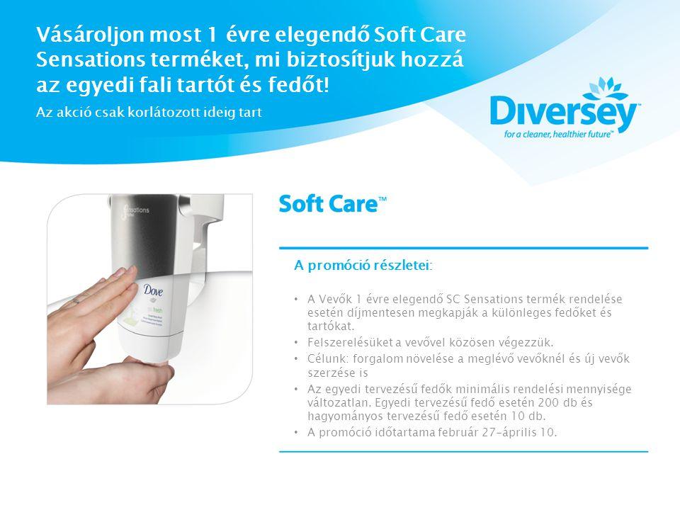 Vásároljon most 1 évre elegendő Soft Care Sensations terméket, mi biztosítjuk hozzá az egyedi fali tartót és fedőt.