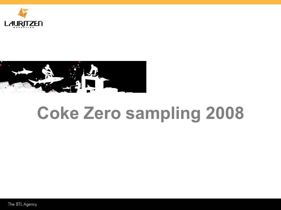 Coke Zero sampling 2008