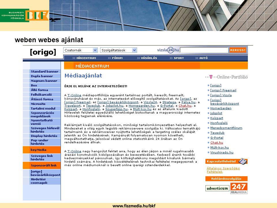 weben webes ajánlat