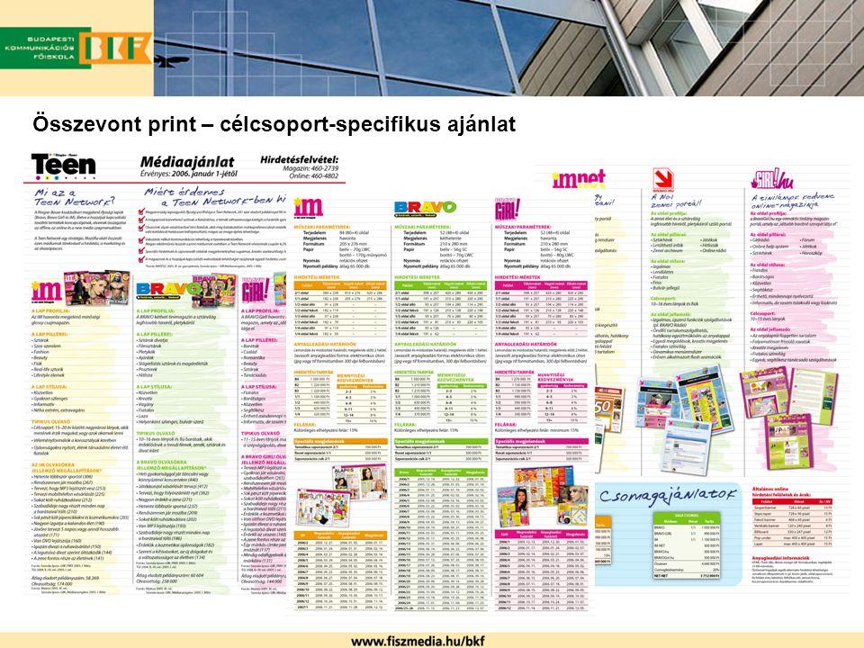 Összevont print – célcsoport-specifikus ajánlat