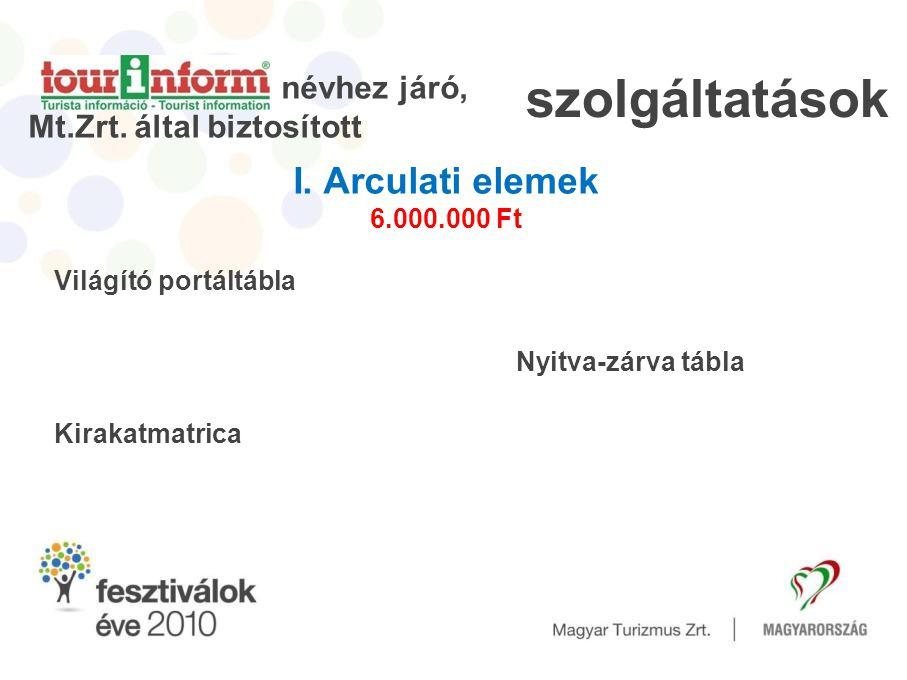 Világító portáltábla Kirakatmatrica névhez járó, Mt.Zrt.