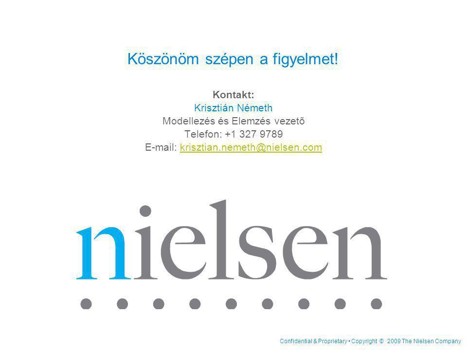 Confidential & Proprietary • Copyright © 2009 The Nielsen Company Köszönöm szépen a figyelmet.