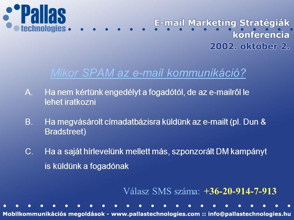 Mikor SPAM az e-mail kommunikáció.