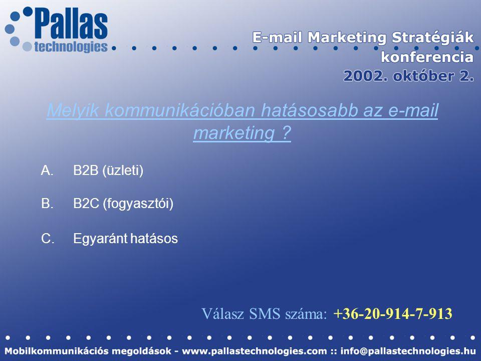Melyik kommunikációban hatásosabb az e-mail marketing .