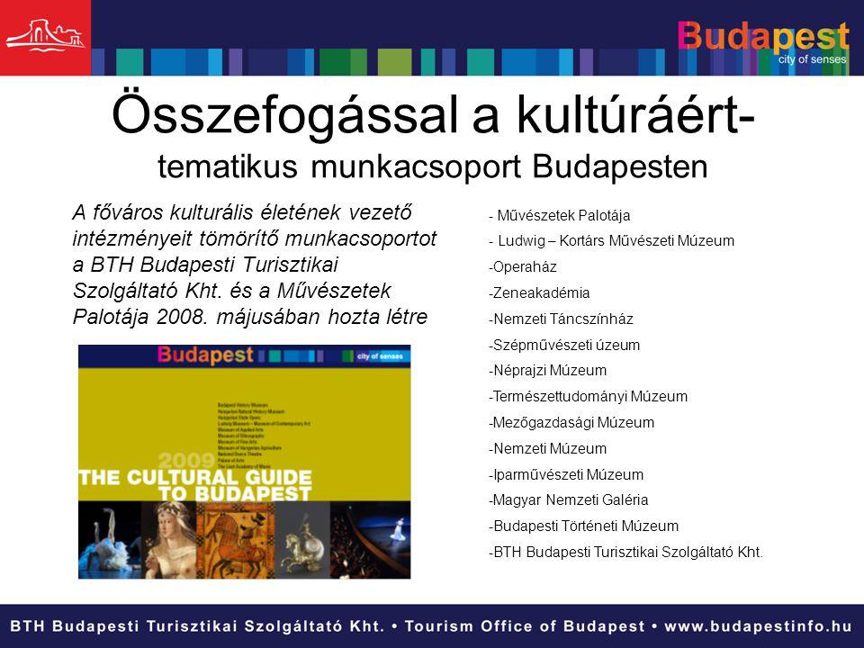 Összefogással a kultúráért- tematikus munkacsoport Budapesten - Művészetek Palotája - Ludwig – Kortárs Művészeti Múzeum -Operaház -Zeneakadémia -Nemze