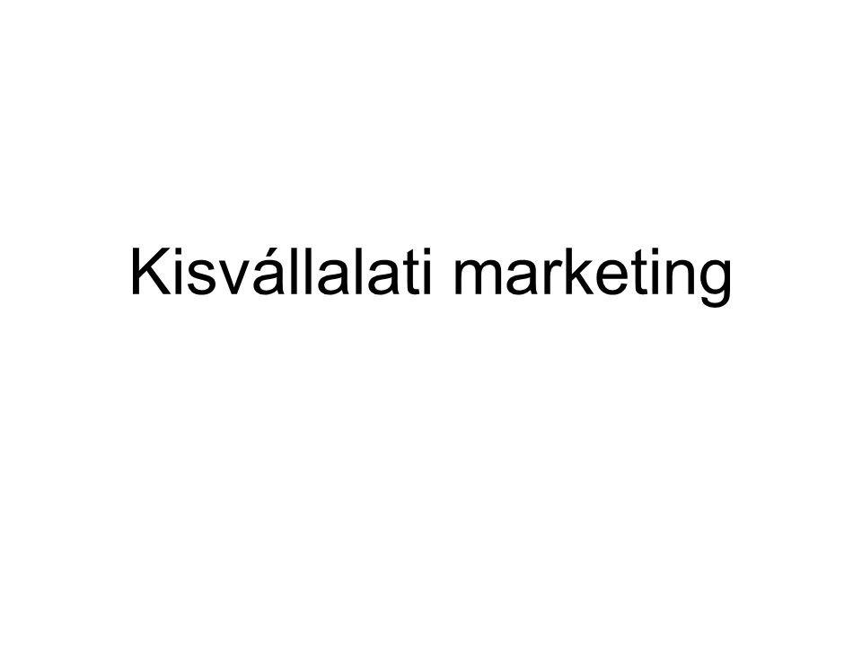 Kisvállalati marketing