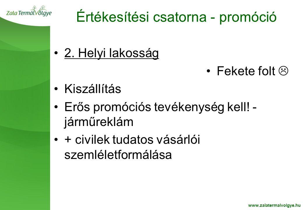 BelsoOldalFehér2 Értékesítési csatorna - promóció www.zalatermalvolgye.hu •2.