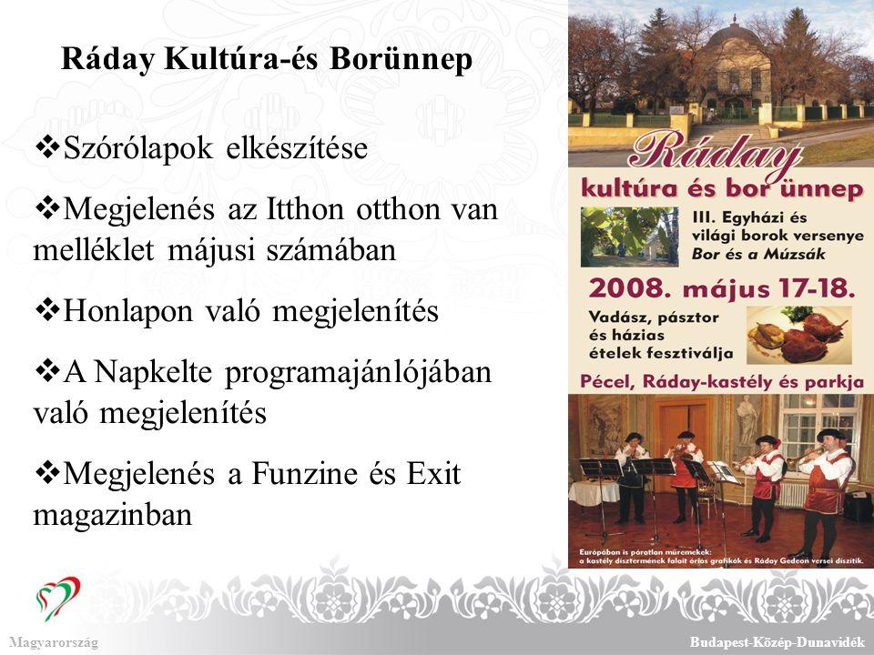 MagyarországBudapest-Közép-Dunavidék Utazás kiállítás A gödöllői régió kiemelt megjelenése 4 pulton, kedvezményes áron