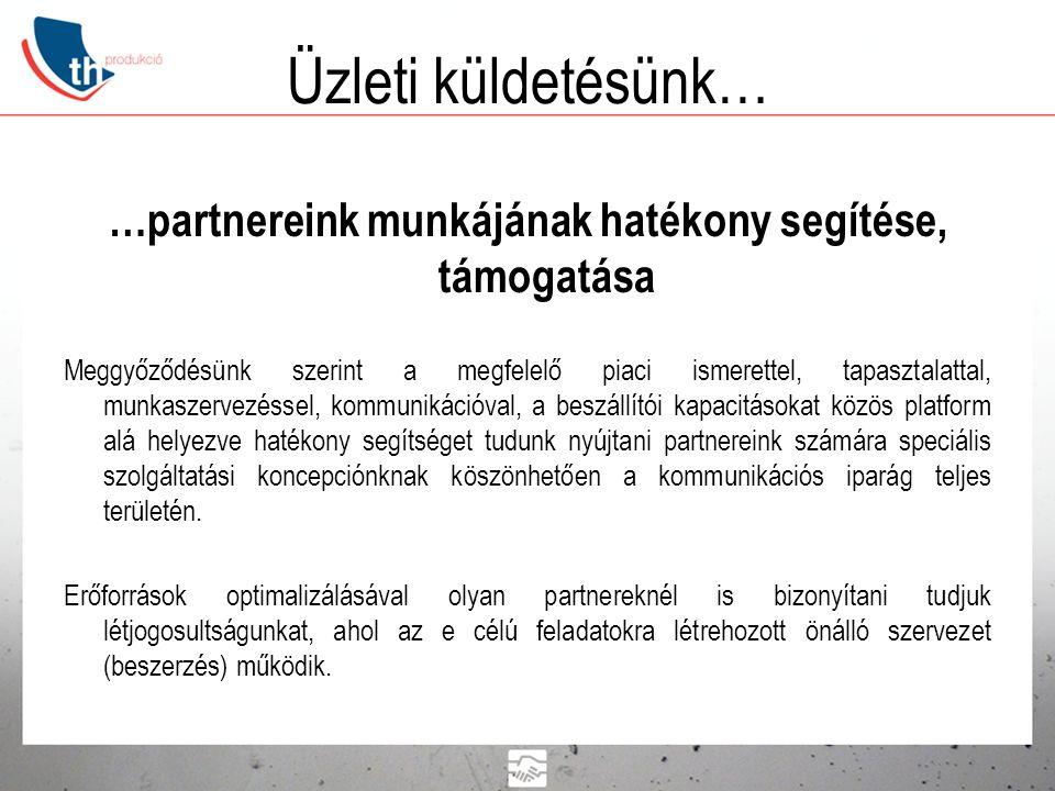 Tender Hungária Kft.Alapítás éve: 2005. TH Produkció, mint brand: 2013.