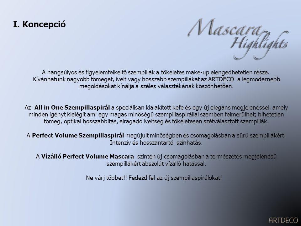 II.Termékválaszték Art-No. 280.1/.3/.5/.6/.7: All in One Szempillaspirál Art-No.
