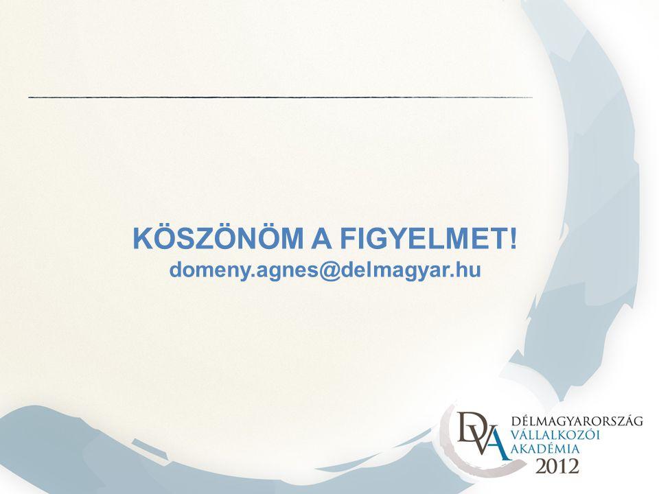 KÖSZÖNÖM A FIGYELMET! domeny.agnes@delmagyar.hu