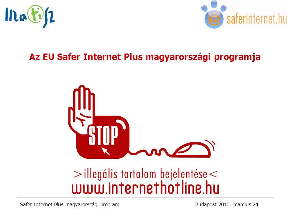 Safer Internet Plus magyarországi programBudapest 2010.