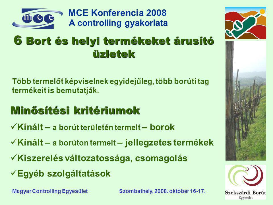 MCE Konferencia 2008 A controlling gyakorlata o Magyar Controlling Egyesület Szombathely, 2008. október 16-17. Több termelőt képviselnek egyidejűleg,
