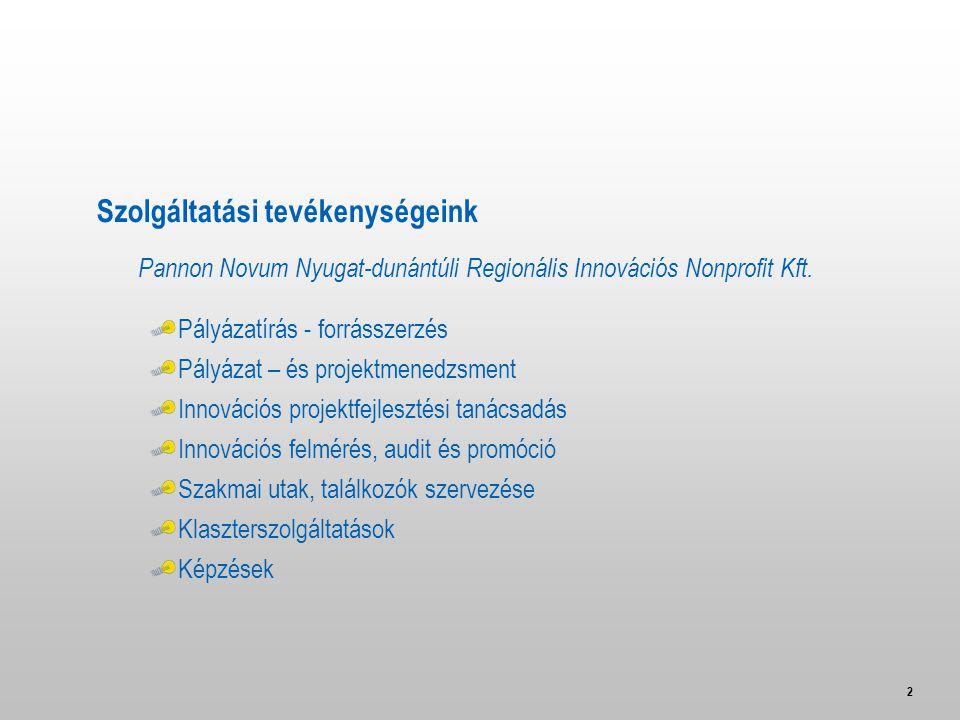 2 Pannon Novum Nyugat-dunántúli Regionális Innovációs Nonprofit Kft.