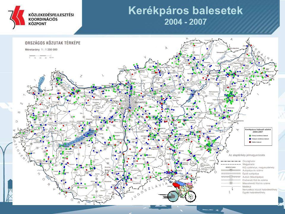 20 Kerékpáros balesetek 2004 - 2007