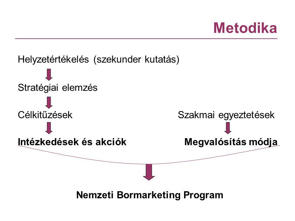 Metodika Helyzetértékelés (szekunder kutatás) Stratégiai elemzés Célkitűzések Szakmai egyeztetések Intézkedések és akciók Megvalósítás módja Nemzeti B