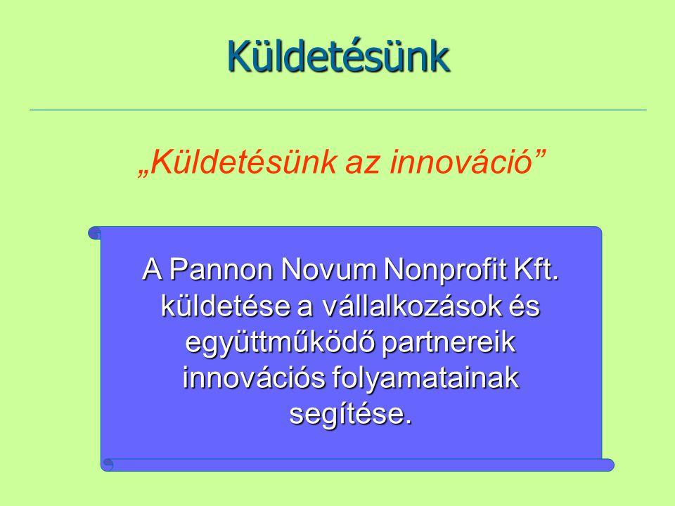 """Küldetésünk """"Küldetésünk az innováció"""" A Pannon Novum Nonprofit Kft. küldetése a vállalkozások és együttműködő partnereik innovációs folyamatainak seg"""