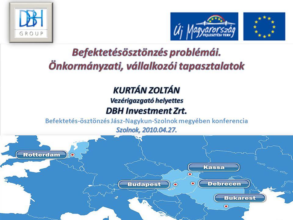 KÖSZÖNÖM A FIGYELMÜKET Kurtán Zoltán Vezérigazgató helyettes DBH Group Rotterdam | Budapest | Debrecen | Kosice | Bucharest | | Debrecen – H-4025, 55.