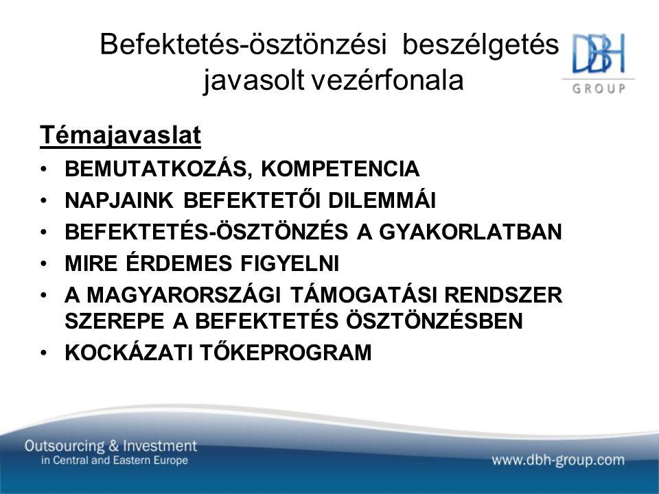 """NAPJAINK BEFEKTETŐI DILEMMÁI OBJEKTÍV – SZUBJEKTÍV DÖNTÉSI SZEMPONTOK Image -Világgazdasági válság -Működő tőkéért versengő régiók - súlypont eltolódás, """"sexy térségek -Magyarország mint befektetési célpont (gazdasági, jogi, politikai stb."""