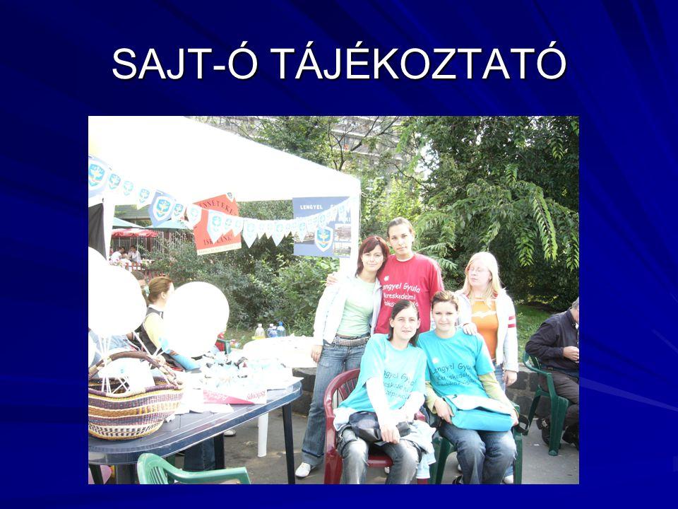 SAJT-Ó TÁJÉKOZTATÓ