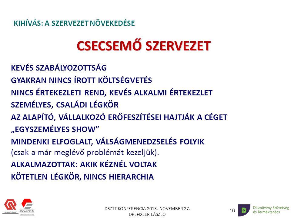 16 DSZTT KONFERENCIA 2013.NOVEMBER 27. DR.