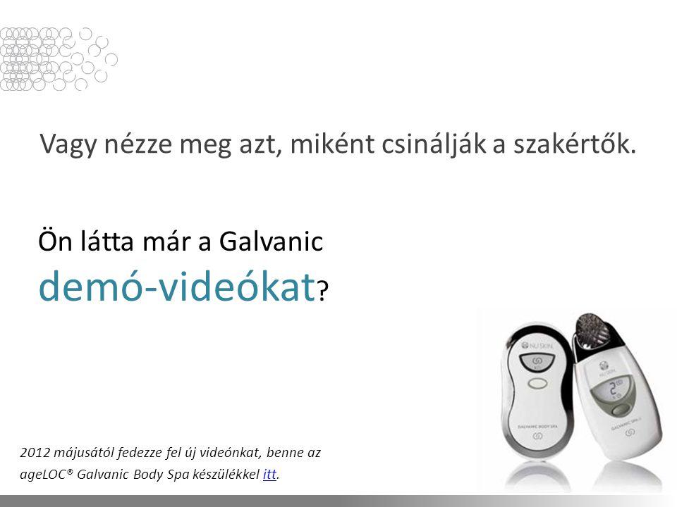 Ön látta már a Galvanic demó-videókat . Vagy nézze meg azt, miként csinálják a szakértők.