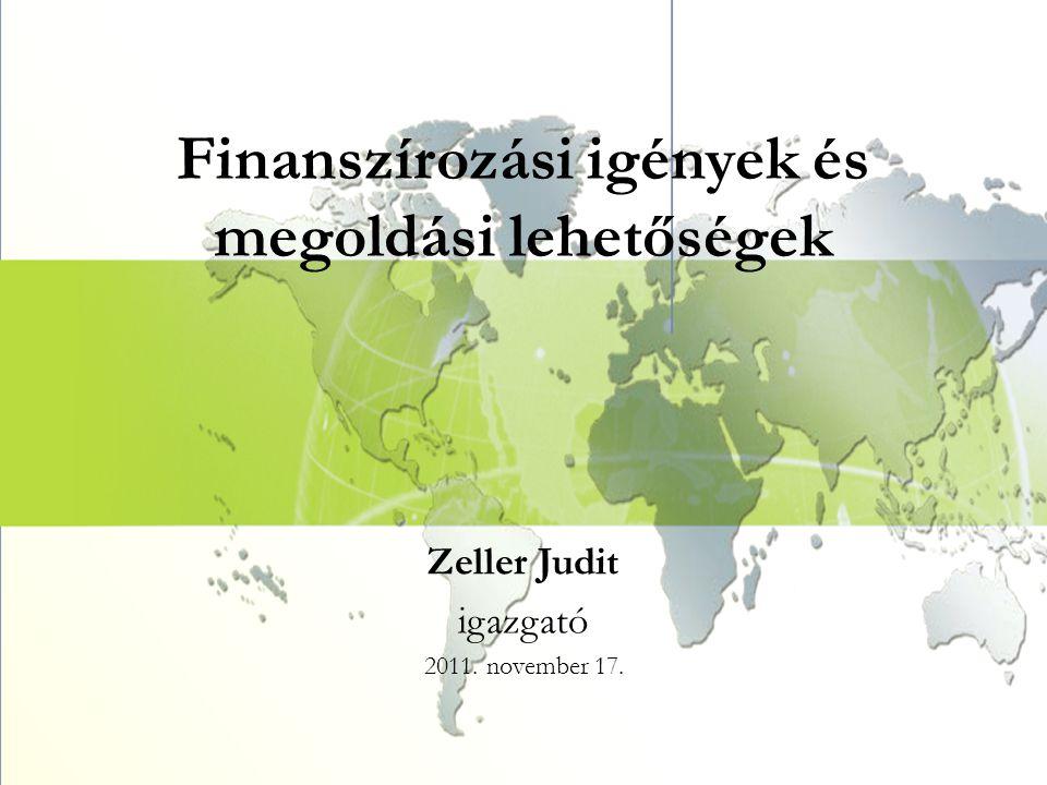 Finanszírozási igények és megoldási lehetőségek Zeller Judit igazgató 2011. november 17.