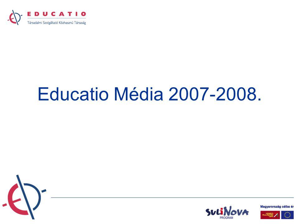 EDUCATIO Print •Évente több százezer példány KönyvekÚjságokIngyenes kiadványok Egyéb médiumok •Felvételi tájékoztató kiadványok •tankönyvek •Felsőoktatási műhely •HVG Diploma különszáma •Felvi Magazin •Diák Kalauz •Diákigazolvány- tok •Behúzás tokba