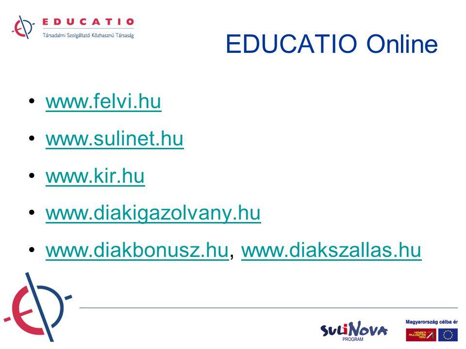 EDUCATIO Online – példák hirdetési felületekre Standard banner (468x60 pixel) Layer (max.