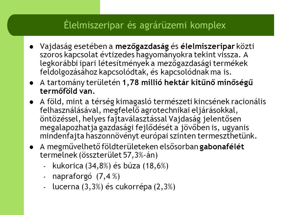  További komparatív összehasonlítások:  A DKMT Eurorégió térségei között jóval kimagaslik Vajdaság a vörös here széna, lucerna és repcemag hektáronkénti termésátlagával.