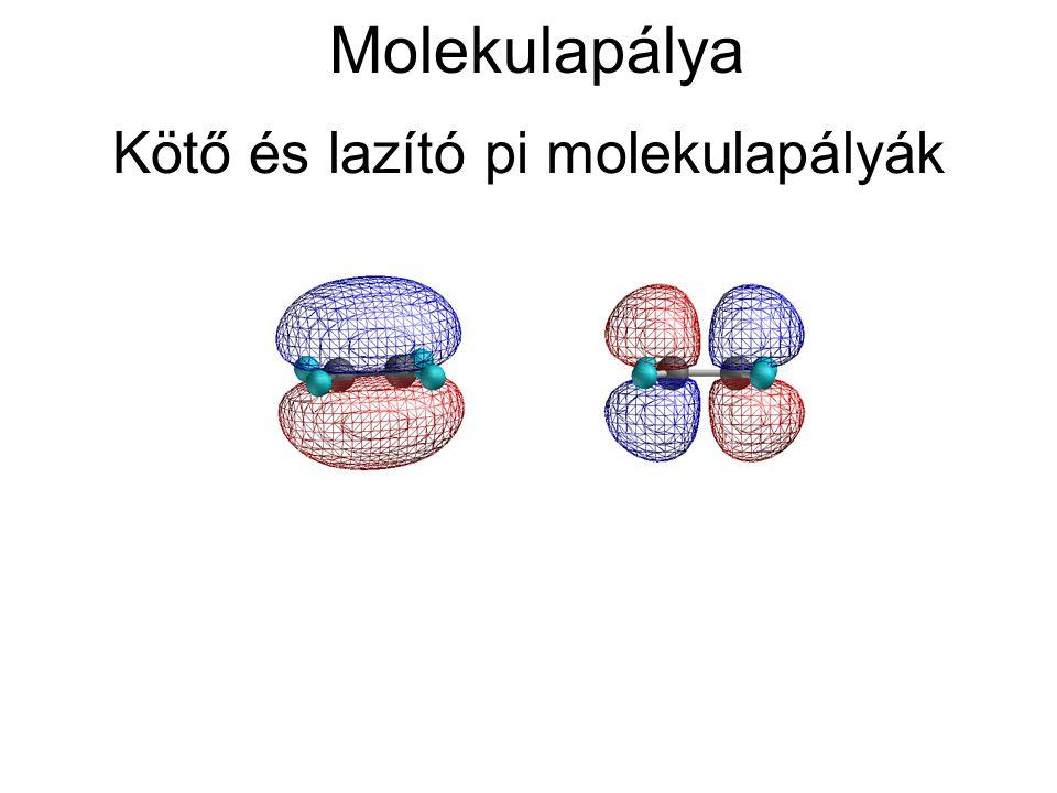 Kötő és lazító pi molekulapályák Molekulapálya