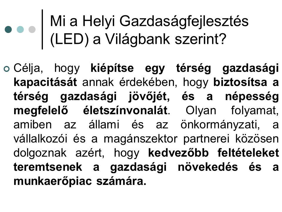 Mi a Helyi Gazdaságfejlesztés (LED) a Világbank szerint.