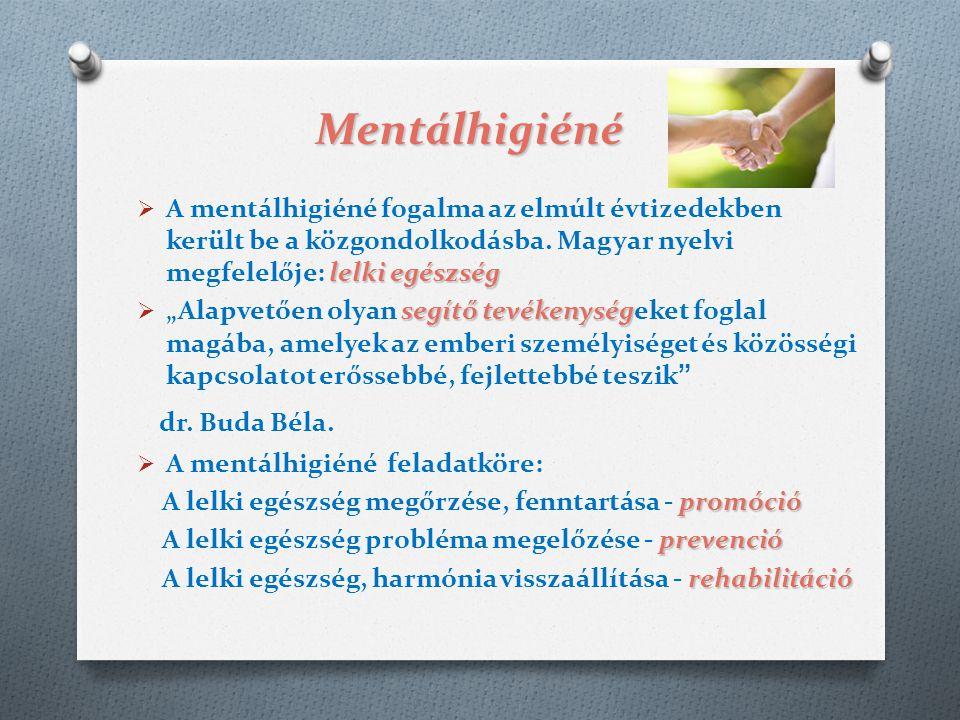 Mentálhigiéné lelki egészség  A mentálhigiéné fogalma az elmúlt évtizedekben került be a közgondolkodásba. Magyar nyelvi megfelelője: lelki egészség
