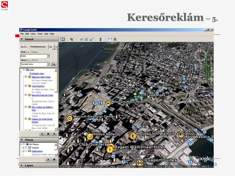 2010. 03. 09.dr. Sós Péter János33 Keresőreklám – 5.