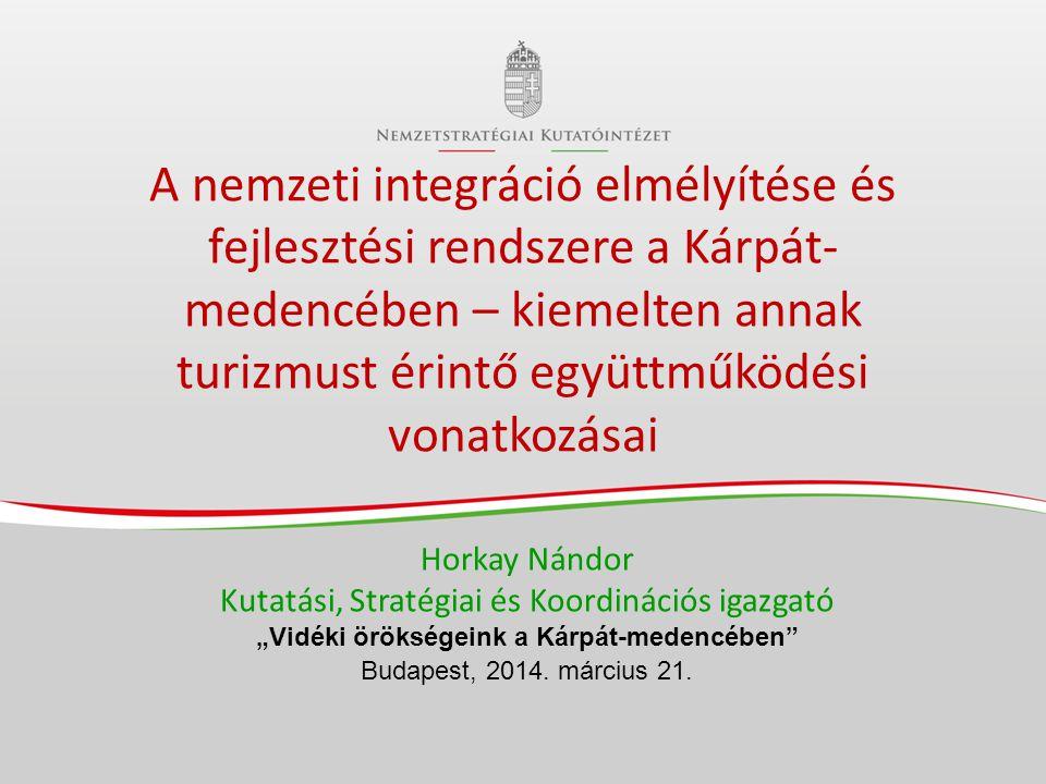 A Nemzetstratégiai Kutatóintézet (NSKI) hármas küldetése 1.A nemzeti integrációban és a Kárpát-medencében – a Kárpát- hazában - való gondolkodás és cselekvés általánossá tétele • Nemzeti integráció kiteljesítése 2.A tudatos és jövőképközpontú nemzetstratégiai gondolkodás és cselekvés erősítése 3.A nemzeti támogatási és együttműködési rendszer kiegészítése a többszintű nemzeti integrációt és együttműködést szolgáló, jövőképközpontú, összehangolt, tudatosan hálózatilag fejlesztett Kárpát-medencei fejlesztési rendszerrel FELELŐSSÉGGEL ÉS HŰSÉGGEL a kölcsönös felelősségvállalásra, együttműködésre és erőforrás- koncentrációra épülő partnerség jegyében