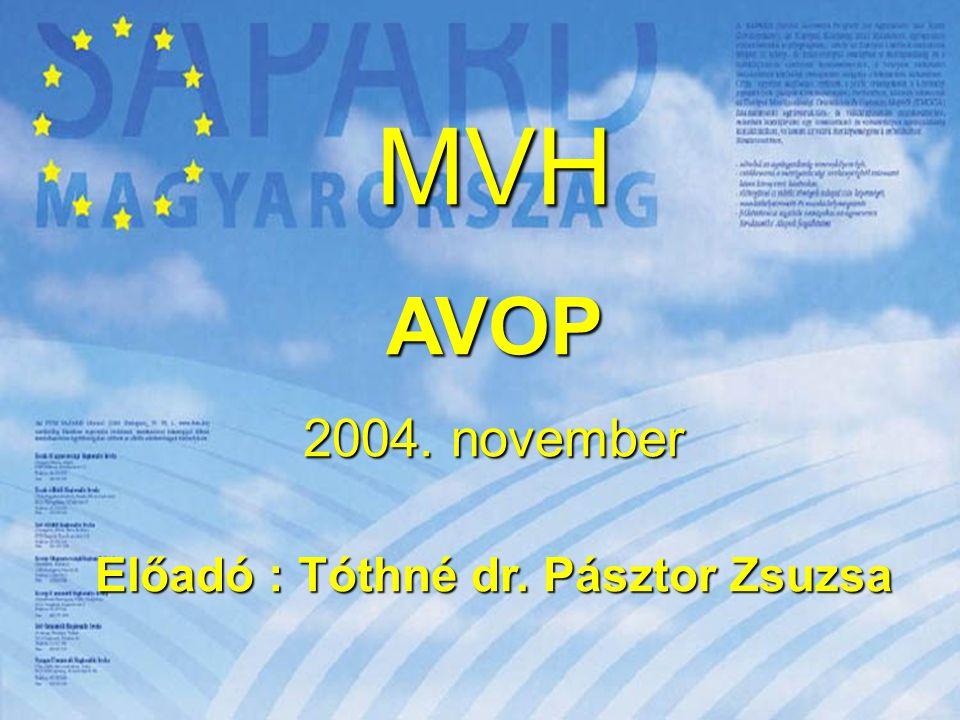 """12 A Nemzeti Fejlesztési Terv részprogramjai  GVOP Az Európa terv """"A versenyképes gazdaságért részprogramja  HEFOP Az Európa terv """"A munkahelyek megőrzéséért részprogramja  KIOP Az Európa terv """"Az egészséges környezetért részprogramja  AVOP Az Európa terv """"A vidék és a mezőgazdaság fejlesztéséért részprogramja  ROP Az Európa terv """"A helyi közösségekért részprogramja"""