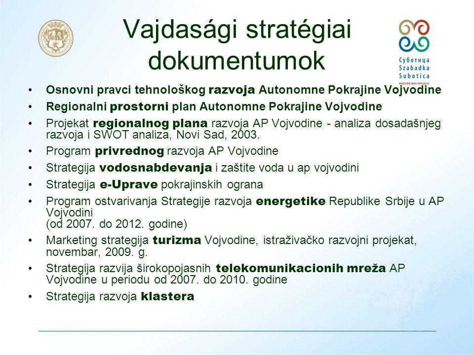 Vajdaság Autonóm Tartomány Gazdasági Fejlesztési Terve 2004-2007 - ex-ante elemzése 2006-ban • PROJEKTEK: – IPA – megvalósíthatósági hatástanulmány – vasúti közlekedés Szeged- Röszke-Horgoš-Subotica-Čikerija-Bácsalmás-Baja 08.02.2011.