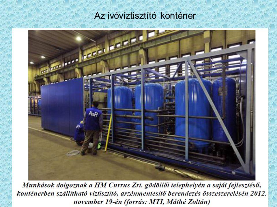 31 Az ivóvíztisztító konténer
