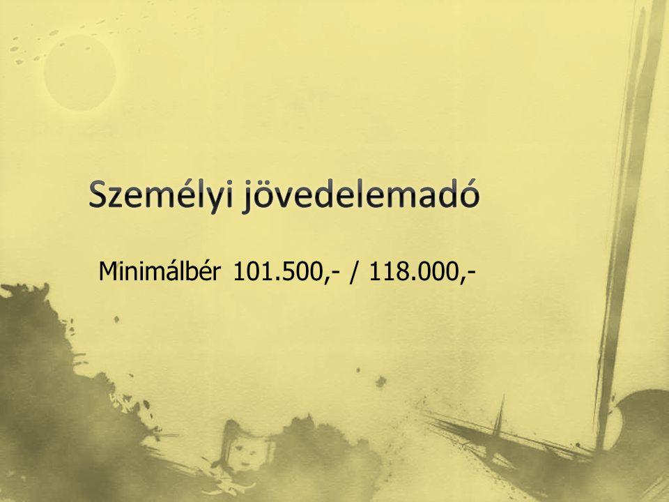 Minimálbér 101.500,- / 118.000,-