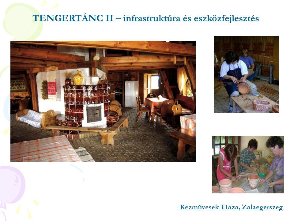 Kézművesek Háza, Zalaegerszeg TENGERTÁNC II – infrastruktúra és eszközfejlesztés
