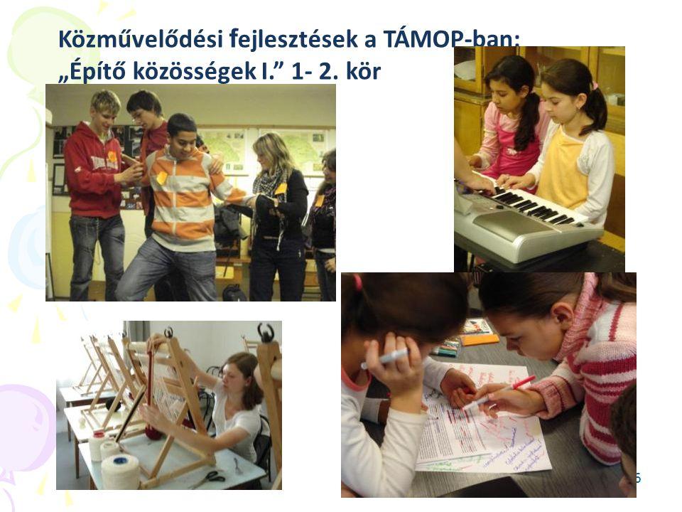 """36 Közművelődési f ejlesztések a TÁMOP-ban: """"Építő közösségek I."""" 1- 2. kör"""