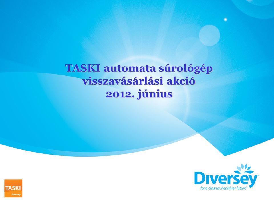 TASKI automata súrológép visszavásárlási akció 2012. június
