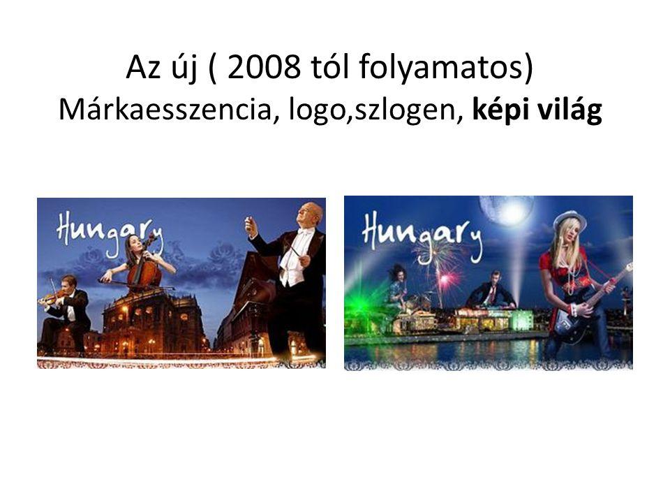 Az új ( 2008 tól folyamatos) Márkaesszencia, logo,szlogen, képi világ