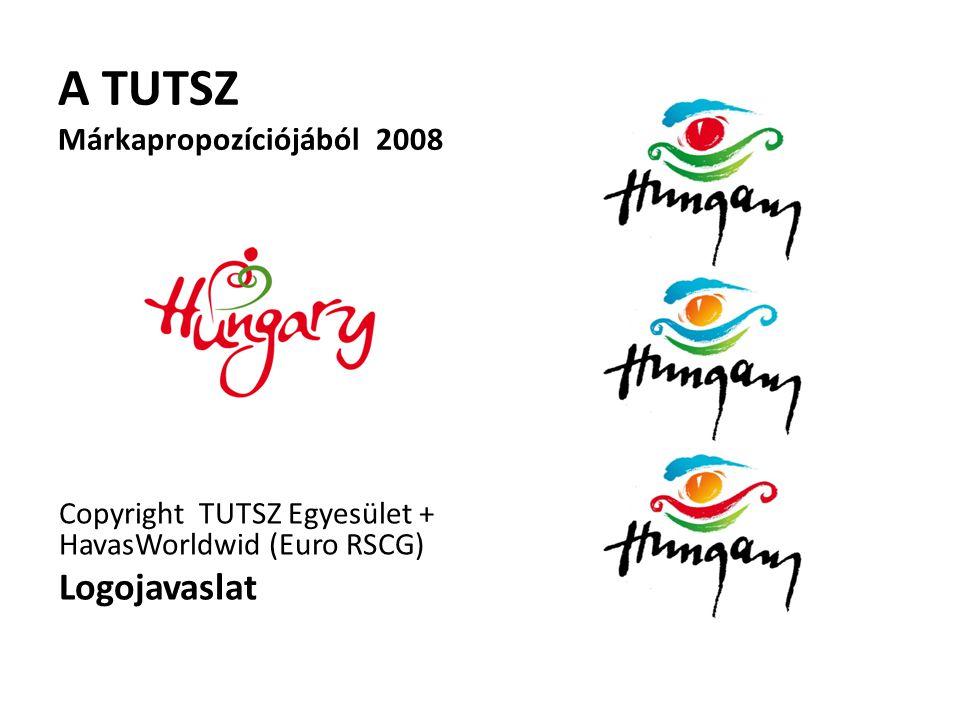 A TUTSZ Márkapropozíciójából 2008 Copyright TUTSZ Egyesület + HavasWorldwid (Euro RSCG) Logojavaslat