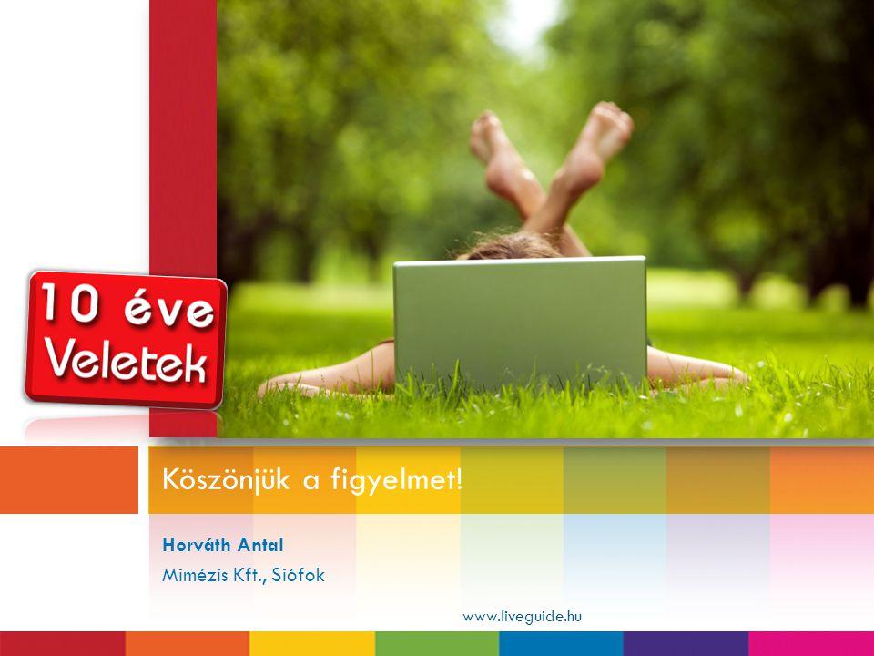 Horváth Antal Mimézis Kft., Siófok Köszönjük a figyelmet! www.liveguide.hu