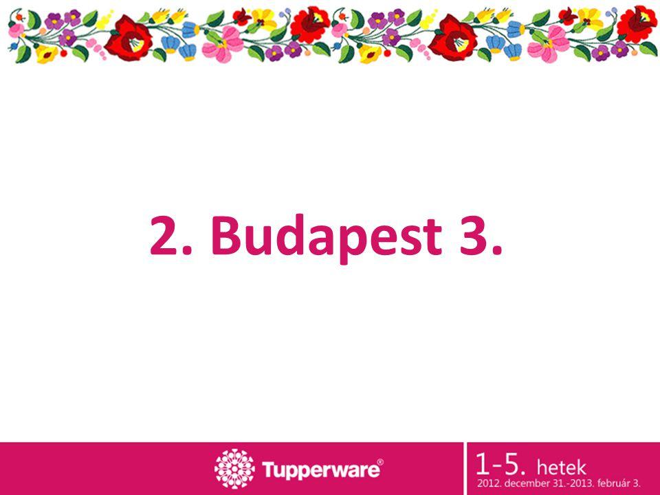2. Budapest 3.