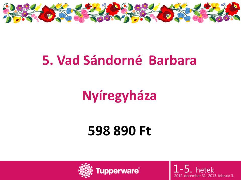 5. Vad Sándorné Barbara Nyíregyháza 598 890 Ft