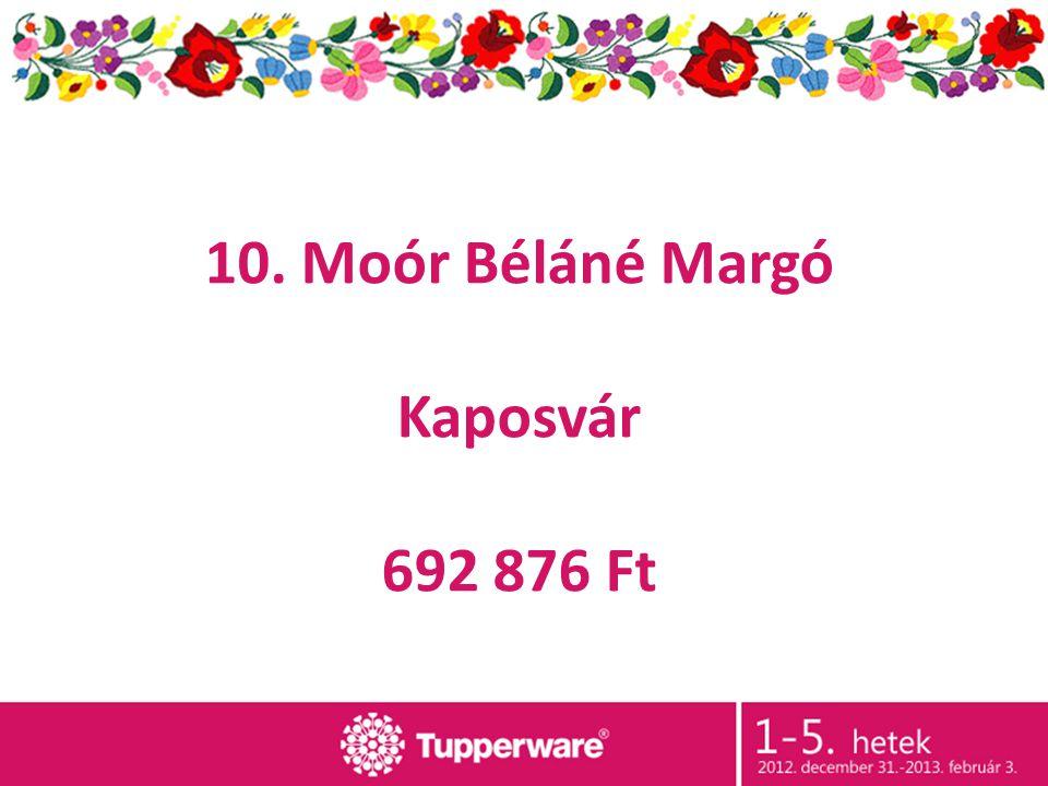 10. Moór Béláné Margó Kaposvár 692 876 Ft
