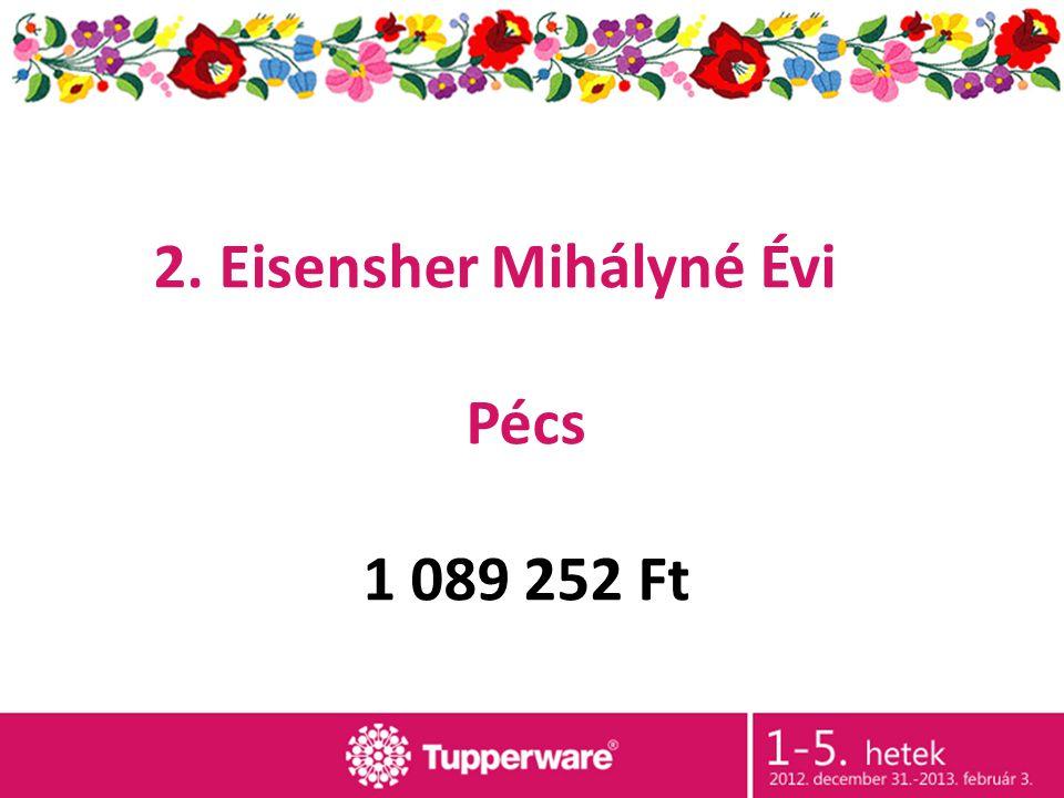 2. Eisensher Mihályné Évi Pécs 1 089 252 Ft